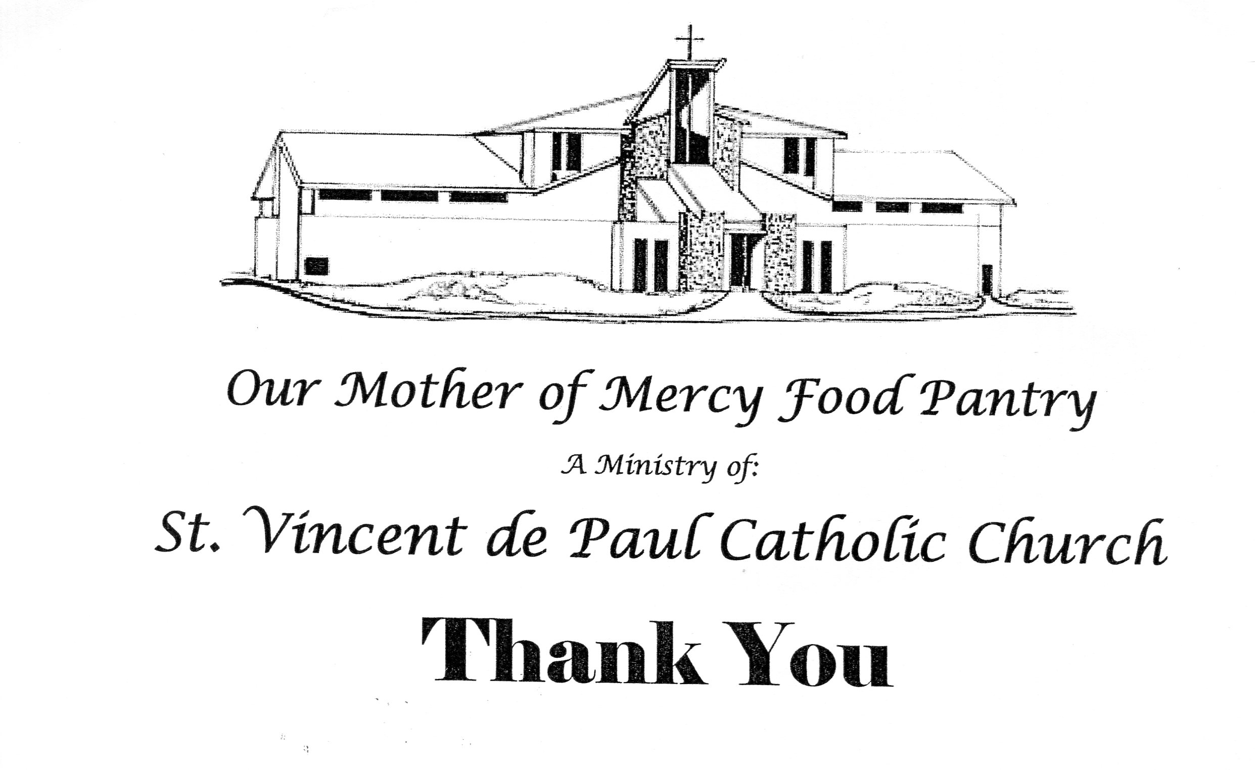 Food Pantry Thank You Card